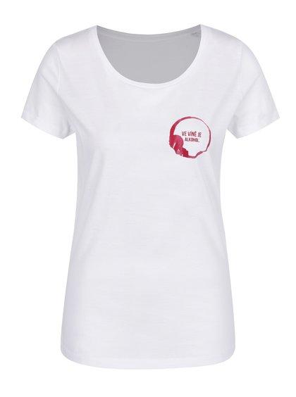 Bílé dámské tričko ZOOT Originál Ve víně je pravda