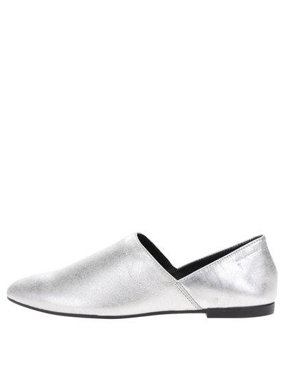 Pantofi argintii  Vagabond Ayden din piele