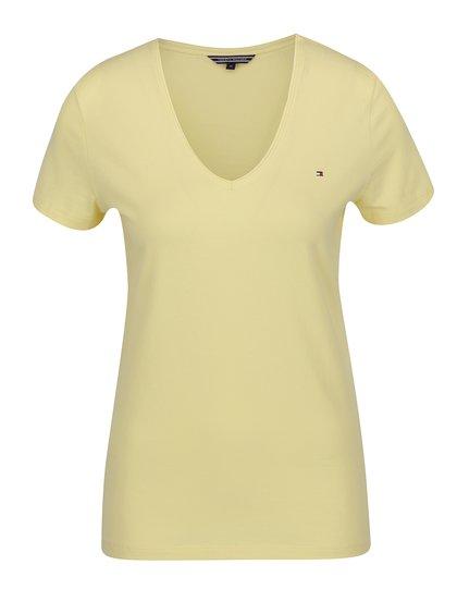 Žluté dámské tričko s krátkým rukávem Tommy Hilfiger