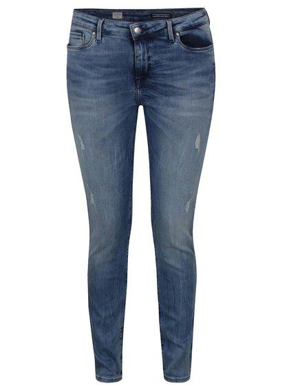 Modré jegging fit džíny s potrhaným efektem Tommy Hilfiger