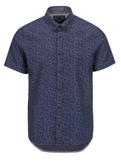 Tmavě modrá pánská vzorovaná košile s krátkým rukávem Tommy Hilfiger