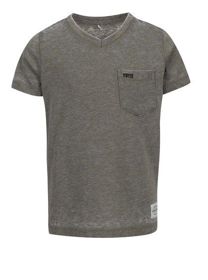 Zelené klučičí žíhané triko s kapsou name it Style