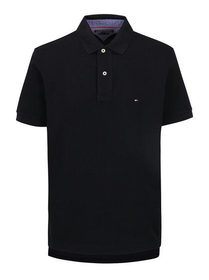 Černé pánské polo triko Tommy Hilfiger