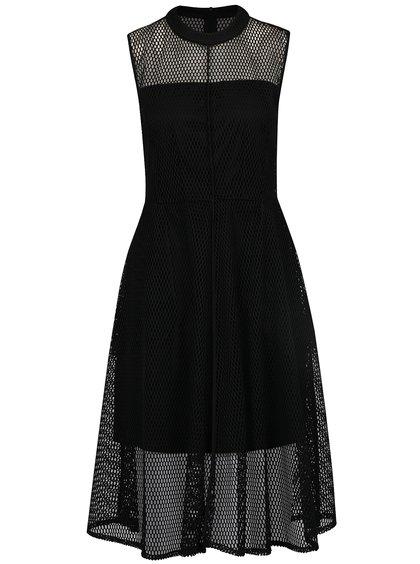 Rochie neagră midi din plasă Alexandra Ghiorghie Deep