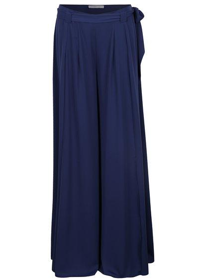Pantaloni albaștri largi cu șlițuri laterale Alexandra Ghiorghie Oana