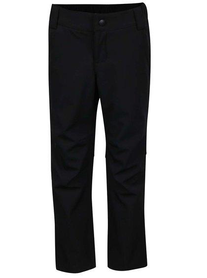 Černé holčičí softshellové kalhoty s poutky na pásek Reima Anchor