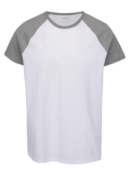 Tricou alb&gri Burton Menswear London