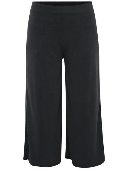Pantaloni culottes gri închis Miss Selfridge cu croi larg