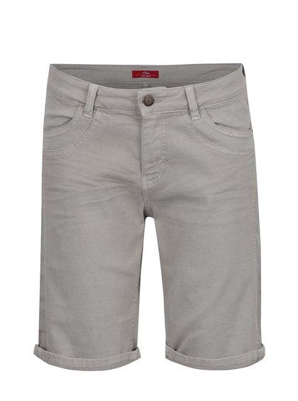 Pantaloni scurți gri deschis s.Oliver pentru femei