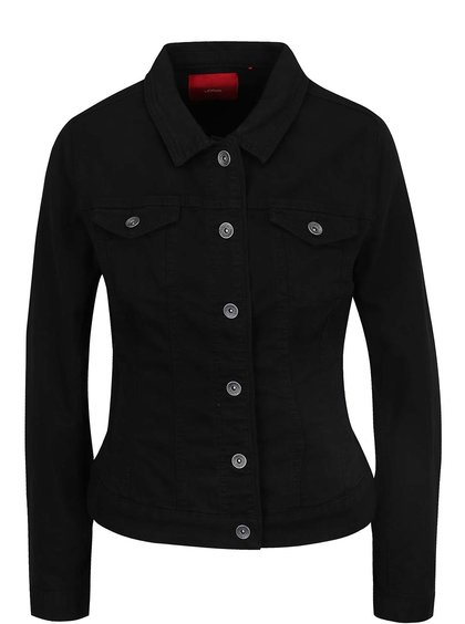 Černá dámská džínová bunda s.Oliver