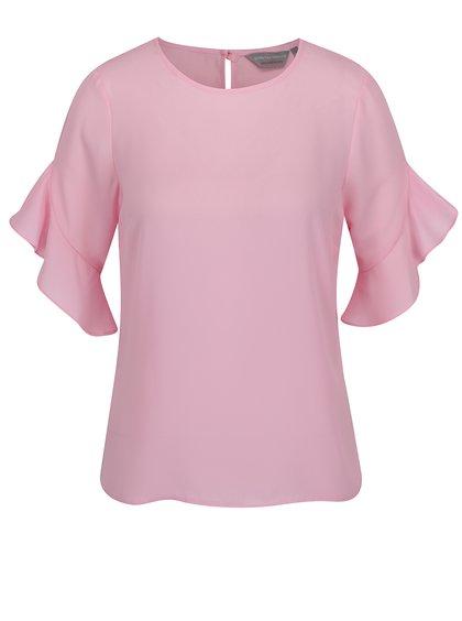 Růžová halenka se zvonovými rukávy Dorothy Perkins Petite