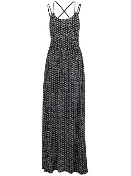 Rochie maxi alb&negru QS by s.Oliver cu imprimeu