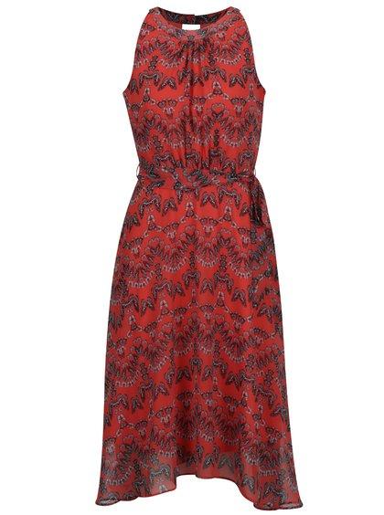 Rochie roșie M&Co cu imprimeu cu fluturi