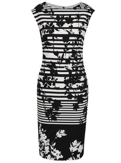 Krémovo-černé pruhované šaty M&Co