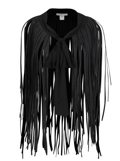 Černý šátek s třásněmi Alexandra Ghiorghie Aga