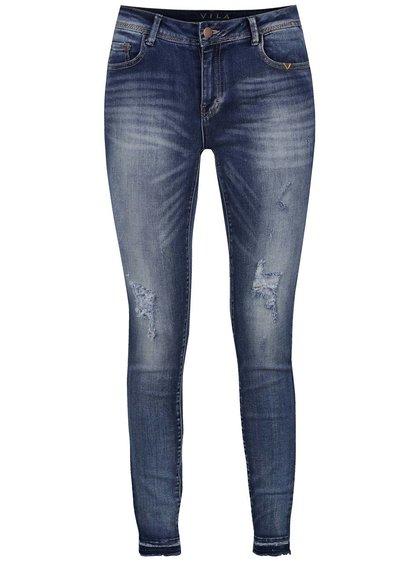 Modré džíny s potrhaným efektem VILA Commit