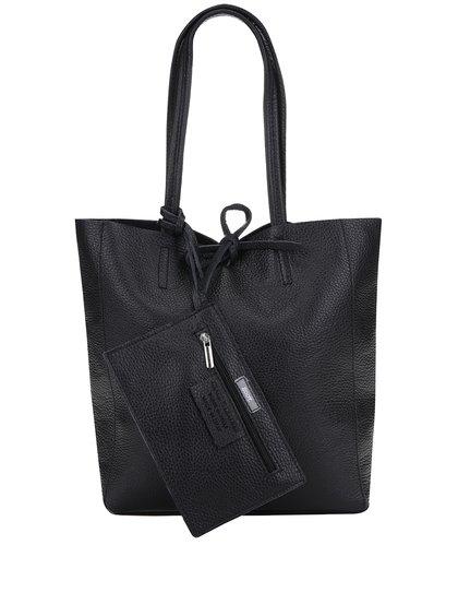 Geantă neagră shopper ZOOT Simple cu buzunar detașabil