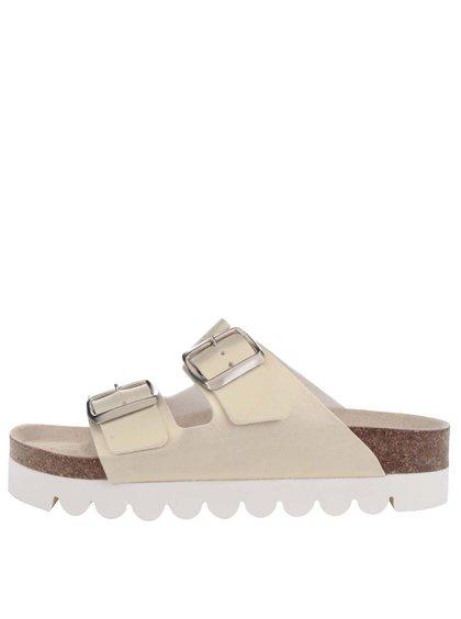Metalické dámské pantofle ve zlaté barvě Snaha Lima 160
