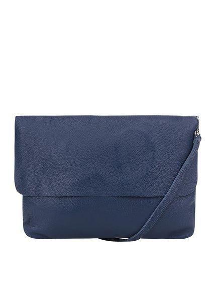 Tmavě modrá kožená crossbody kabelka/psaníčko ZOOT Simple