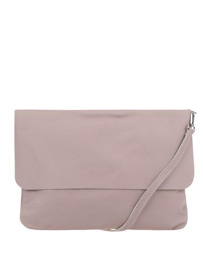 Světle růžová kožená crossbody kabelka/psaníčko ZOOT Simple