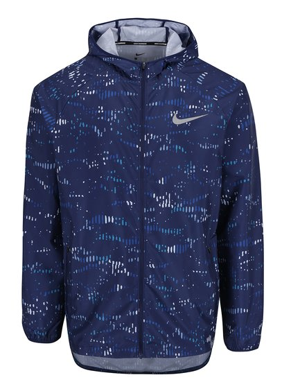 Jachetă albastră cu print abstract pentru bărbați Nike