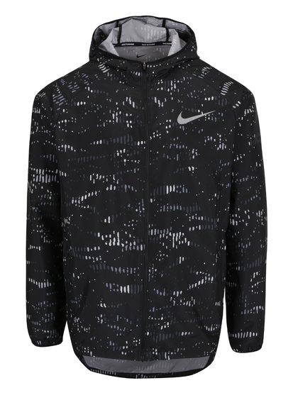 Černá pánská vzorovaná sportovní bunda Nike