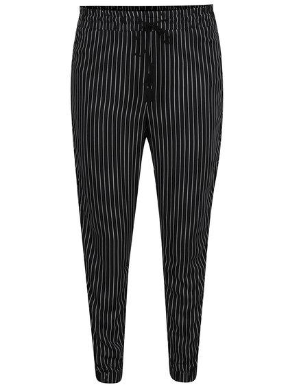 Pantaloni negri cu dungi și talie elastică TALLY WEiJL