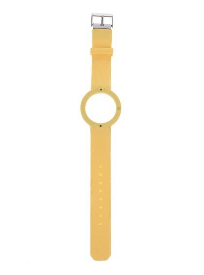 Curea galbenă detașabilă din cauciuc Ju'sto Giallo 40 mm pentru ceas