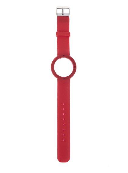 Curea neagră detașabilă din cauciuc Ju'sto Rosso 40 mm pentru ceas