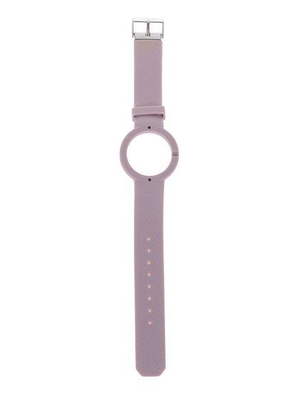 Curea roz deschis detașabilă din cauciuc Ju'sto Antico 40 mm pentru ceas