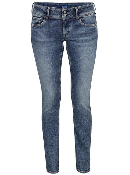 Blugi slim albaștri Pepe Jeans Vera cu aspect prespălat