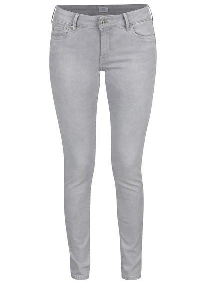 Světle šedé dámské skinny džíny Pepe Jeans Pixie