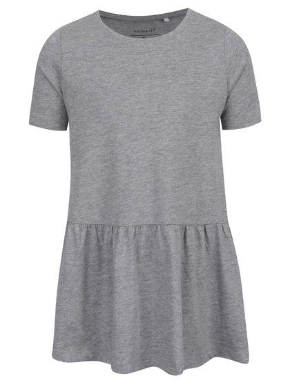 Šedé holčičí šaty s krátkým rukávem name it Vita