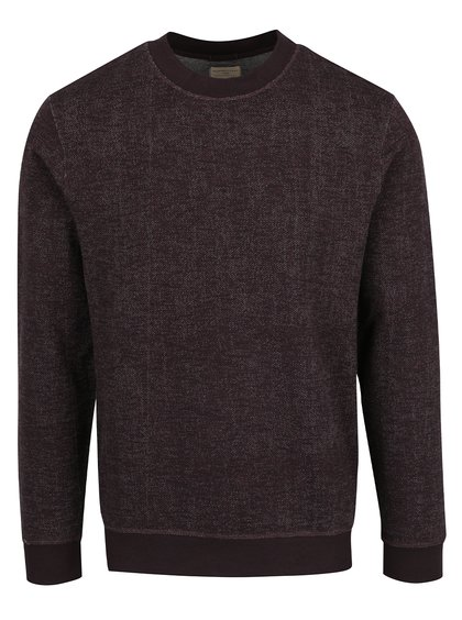Pulover violet Selected Homme din bumbac
