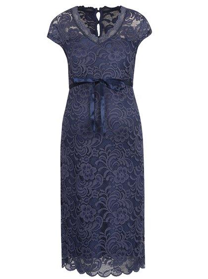 Tmavě modré krajkové šaty Mama.licious New Mivana