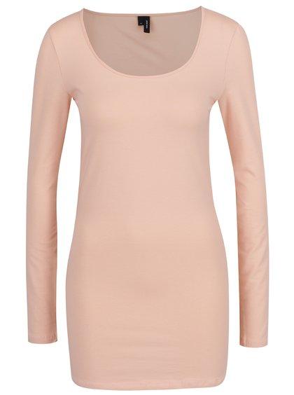 Bluză lungă roz piersică  VERO MODA Maxi My