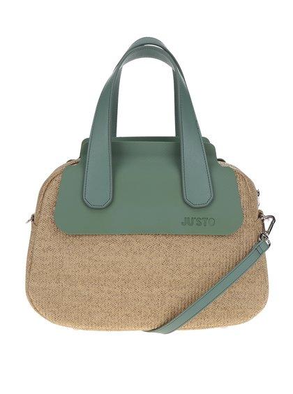 Béžová kabelka s detaily v mentolové barvě Ju'sto J-Poppy