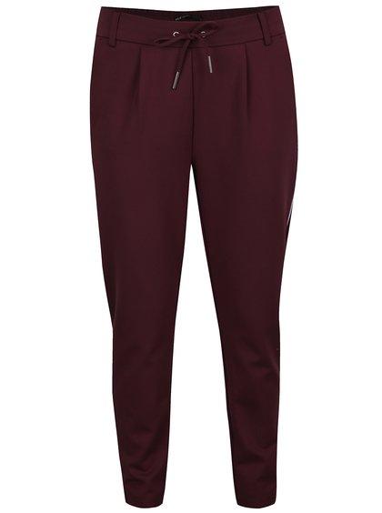 Vínové kalhoty s pružným pasem ONLY Poptrash