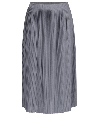 Šedá plisovaná sukně Jacqueline de Yong Dice