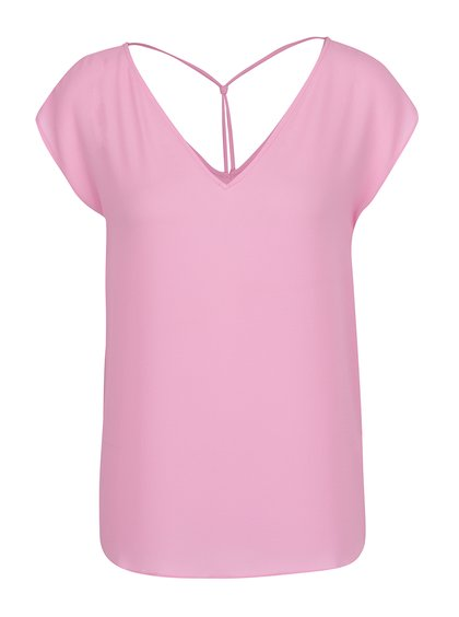 Tricou roz cu bretele decorative ONLY Myrina