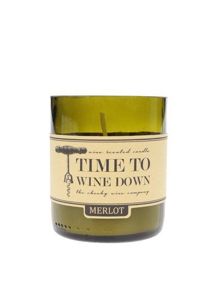 Vonná svíčka ve tvaru dna lahve CGB Merlot