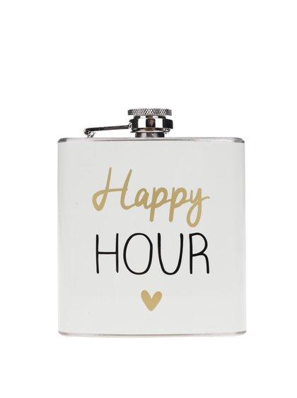 Sticlă metalică de buzunar cu print CGB Happy hour