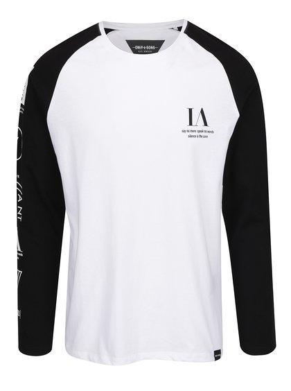 Bluza alba cu maneci negre  Only & Sons Lance