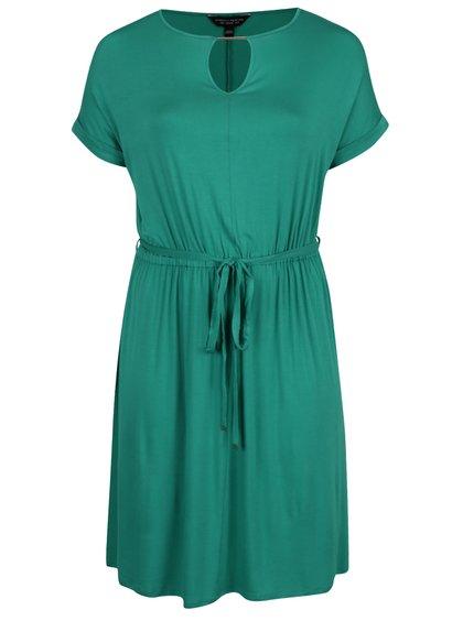 Zelené šaty s detaily ve zlaté barvě Dorothy Perkins Curve