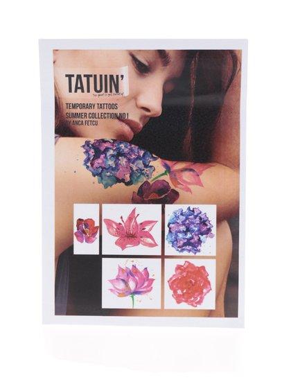 Sada pěti květinových parfémovaných tetování TATUIN`