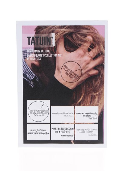 Set 6 tatuaje temporare Design Quotes Collection No 1 TATUIN`