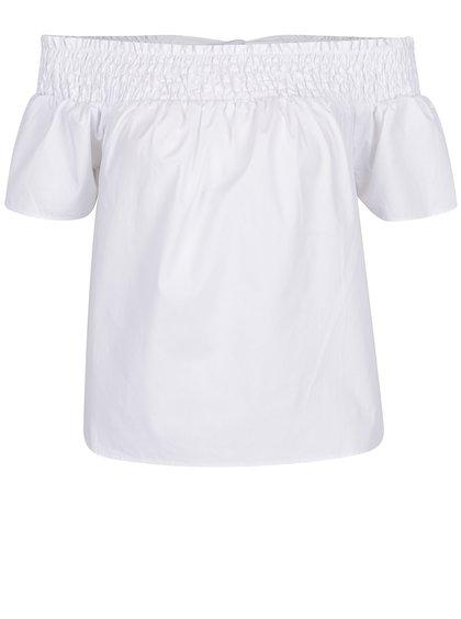 Bluză albă cu fundă la spate Dorothy Perkins Petite