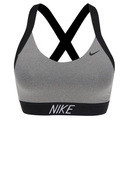Černo-šedá sportovní podprsenka Nike
