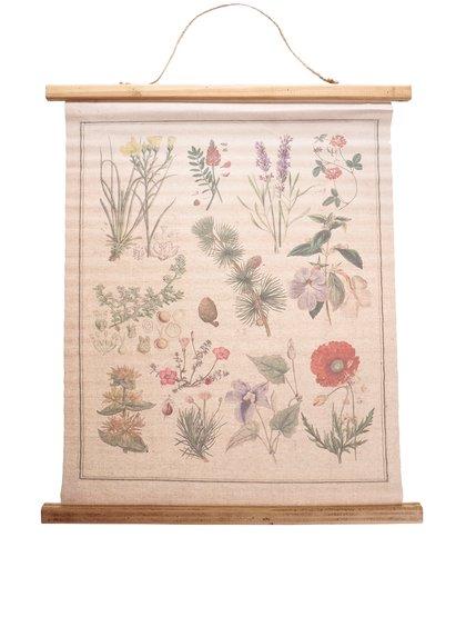 Závěsné plátno na zeď s potiskem rostlin Sass & Belle Wildflower