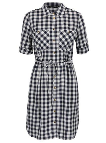 Bílo-modré košilové kostkované šaty Dorothy Perkins
